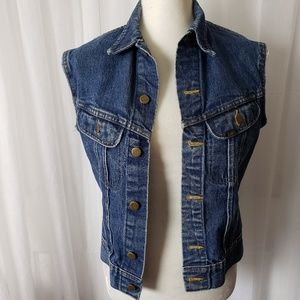 Lee Denim Sleeveless Vest Size Medium